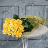 Bouquet of yellow roses (h 80 cm)