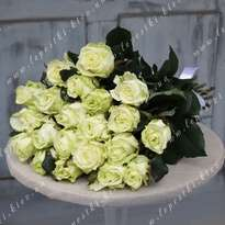 Bouquet of 21 white roses (h 80)