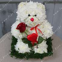 "Toy made of flowers ""Polar Bear"""