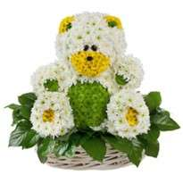 "Toy from flowers ""Bear in a basket"""