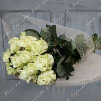 Bouquet of 11 white roses (h 80)