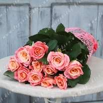 Bouquet of 11 pink roses (h 80)