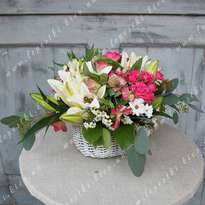 Basket of fresh flowers
