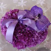 Wedding decor of flowers - pillow for rings