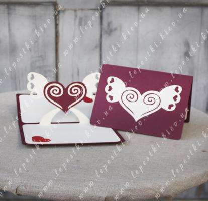 """Handmade greeting card """"Heart with wings"""""""