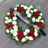 Funeral round wreath No. 29