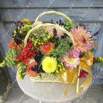 """Basket of flowers """"All colors"""""""