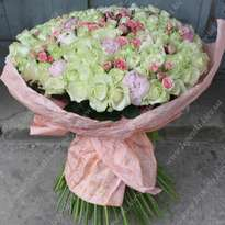 """VIP-bouquet with peonies """"Lake of Tenderness"""""""