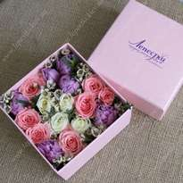 Delicate box with flowers