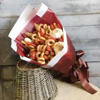 Sausage bouquet with bagels