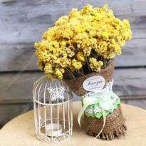 "Bouquet of dried flowers ""Yellow Helichrysum"""