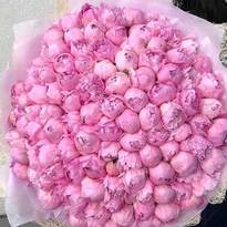Bouquet of 175 peonies