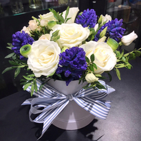 """Box """"Hyacinths with roses"""""""