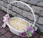 Basket with decor for filling