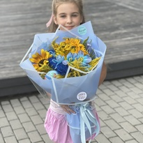 Bouquet with a globe